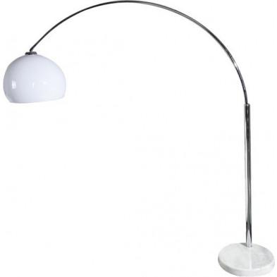 Lampadaire 205 cm en acier chromé extensible coloris blanc collection Sanfantino
