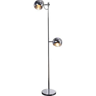 Lampadaire argenté design en acier H. 164 cm collection Ridnaun