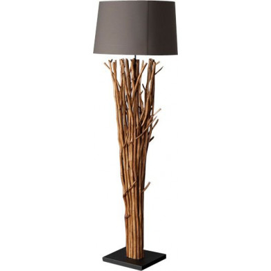 Lampadaire design bois flotté 180 cm coloris gris collection Ban