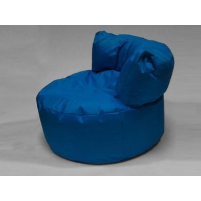 Repose-pied et pouf bleu design  L. 96 x P. 96 x H. 75 cm  collection Stlouis