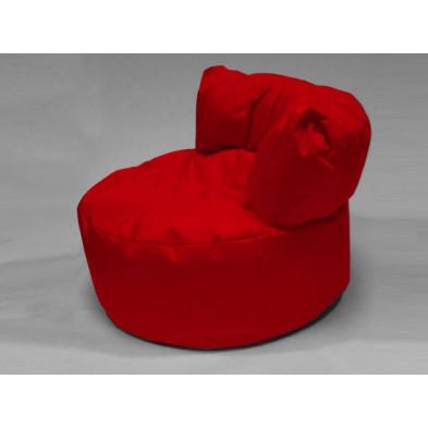 Repose-pied et pouf rouge L. 96 x P. 96 x H. 75 cm  collection Stlouis
