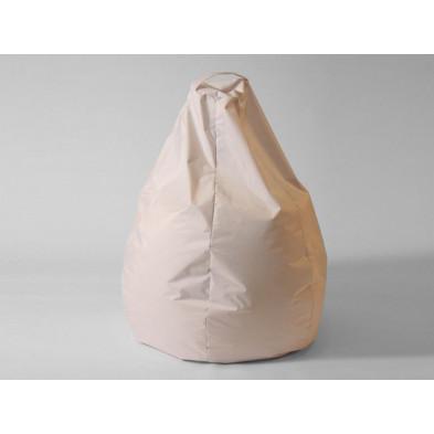 Repose-pied et pouf blanc design  L. 80 x P. 80 x H. 96 cm  collection Spineda