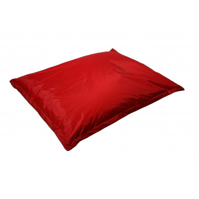 Repose-pied et pouf rouge moderne L. 150 x P. 150 x H. 30 cm  collection Maarten