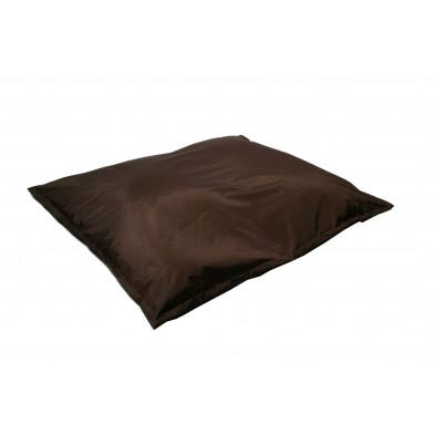 Pouf  et coussin relax marron moderne L. 150 x P. 150 x H. 30 cm  collection Maarten