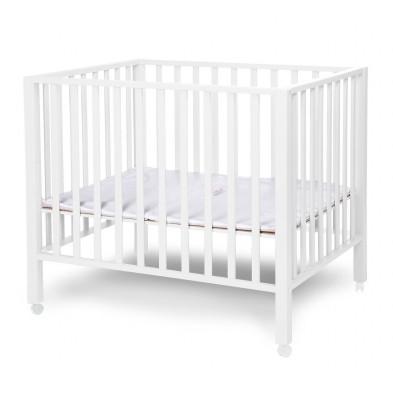 Parc pour bébé moderne blanc en bois massif hêtre et bois MDF 75x95cm Collection Saltwood