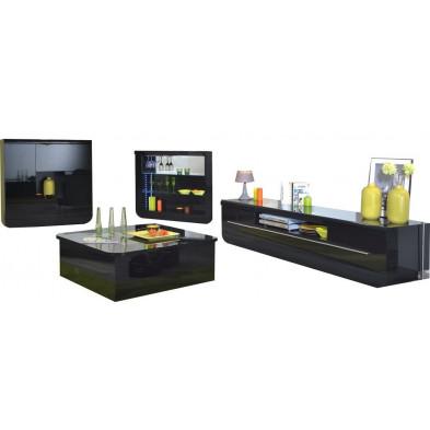 Ensemble meuble tv noir design en cm de largeur collection Schimmel