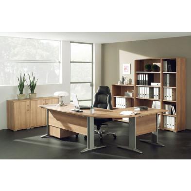 Ensemble de bureau marron moderne en cm de largeur collection Uersfeld