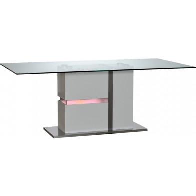 Table blanc design en panneaux de particules de haute qualité L. 200 x P. 100 x H. 76 cm collection Meulemans