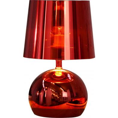 Lampe à poser 31 cm coloris rouge design collection Amarante