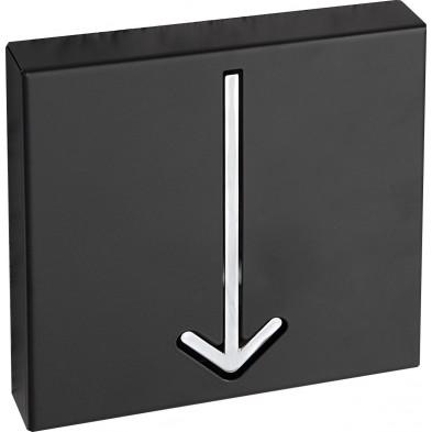 Porte manteau moderne 20 cm en métal coloris noir collection Madly