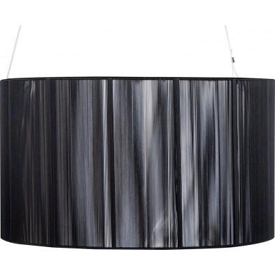 Lampe suspension 60 cm design cosy coloris noir collection Hakan