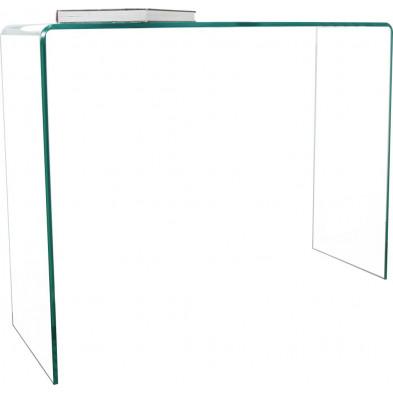 Bureau design en verre coloris transparent L. 100 x H. 75 cm collection Elferink