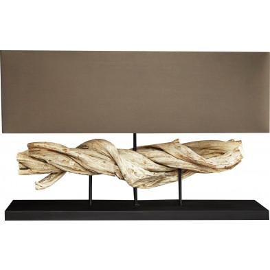 Lampe à poser ultra design en bois flotté L. 80 x P. 20 x H. 50 cm collection Unterkirnach