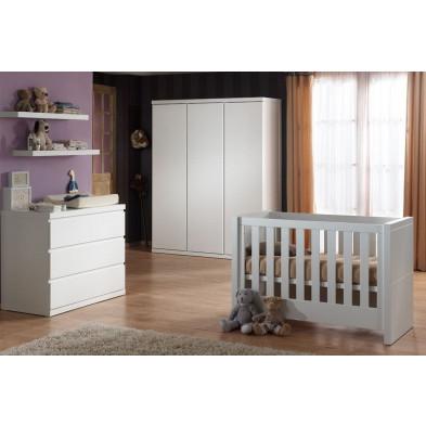 Chambre bébé complète blanc contemporain en collection Klasen