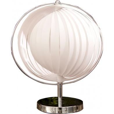 Lampe à poser design Lune coloris blanc collection  Kneefel