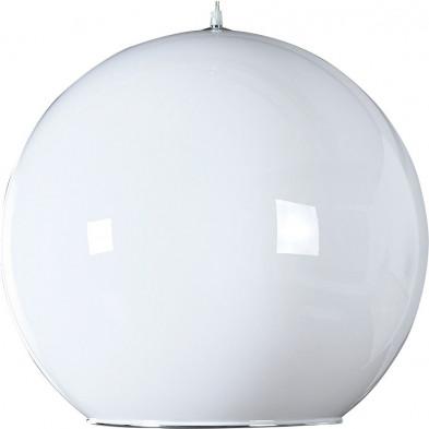 Lampe suspensions design boule coloris blanc  L150 x H 32 cm collection Enond
