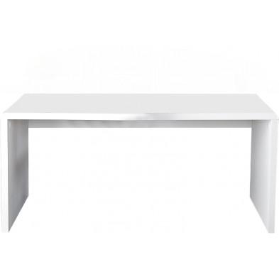 Bureau design en mdf coloris blanc laqué L. 120 x H. 75 cm collection Roughley