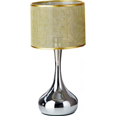 Lampe à poser 50 cm coloris doré design chromé collection Trebsen