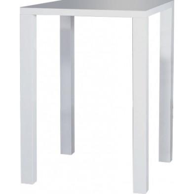 Table de bar moderne blanc en bois mdf  L. 80 x H. 105 cm Collection Sabenheim