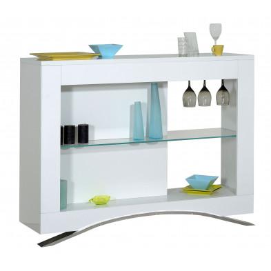 Rangement blanc design L. 130 x P. 39 x H. 100 cm collection Vandenboom