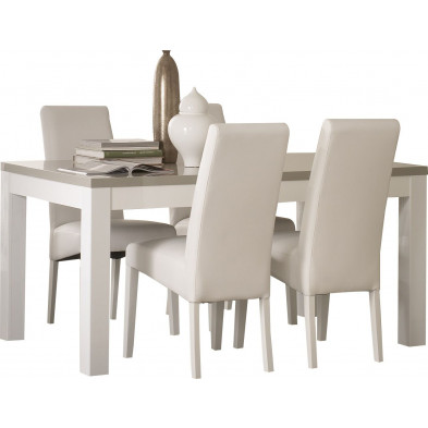 Ensembles tables & chaises blanc design collection Harkema