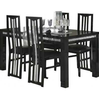 Ensembles tables & chaises noir design collection Papanice