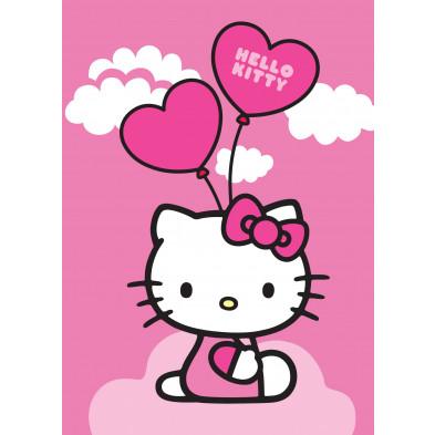 Tapis enfant 95x133cm thème Hello Kitty  collection Cesta