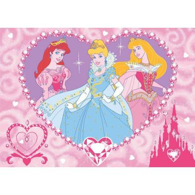 Tapis enfant thème Princesse Disney 95x133cm   collection Gangelt