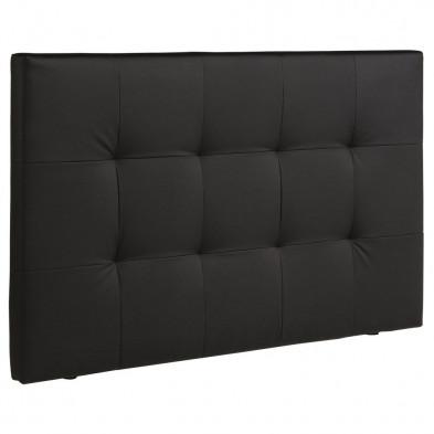Tête de lit moderne noir L. 167 x P. 101 x H. 8 cm collection Ducharme