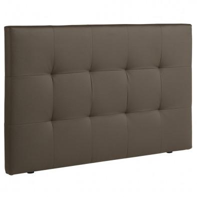 Tête de lit moderne marron  L. 167 x P. 8 x H. 100 cm collection Salt