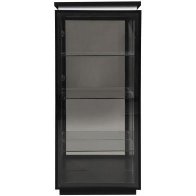 Vitrine noir design en panneaux de particules de haute qualité L. 55 x P. 42 x H. 125 cm collection Bosavern