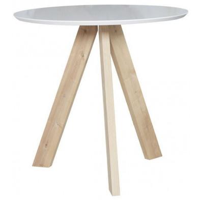 Table de bar beige scandinave en bois massif  L. 100 x P. 100 x H. 93 cm collection Haylee